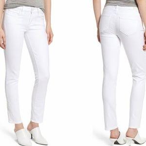 PAIGE Skyline Ankle Peg White Jeans